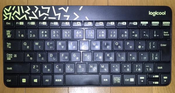 洗浄後のピカピカなキーボード